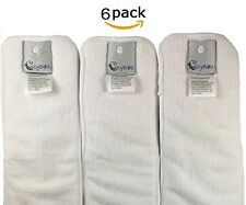 Diapers Cloth Inserts, Large (6 Count) New Item White | FAST SHIP!!!
