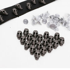 30x Skull Metal Rivets Studs Spot Button For Leathercraft Cloth Bracelet Handbag