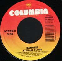 """BANGLES eternal flame  what i meant to say usa columbia 3868553 7"""" WS EX/"""