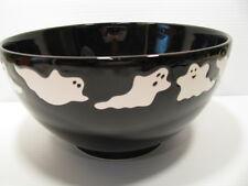 Halloween Ghosts on Black Serving Bowl Waechtersbach German Stoneware New