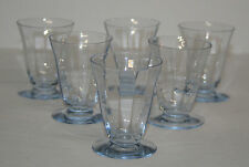 Set of 6 Fostoria Blue Fairfax footed whiskey tumblers - P&I paid