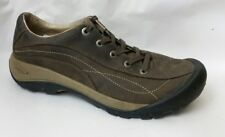 Keen Womens 8.5 M EU 39 Brown Beige Leather Sport Sneakers Shoes Lace Up Oxfords