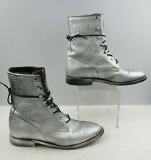 Men's Silver Cowtown Roper Lace Up Western Boots Size : 12 D