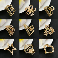 Women Chic Geometric Hair Claw Hair Holder Claw Hollow Hair Clips Hair Crab Clip