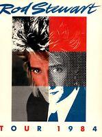 ROD STEWART 1984 CAMOUFLAGE U.S. CONCERT TOUR PROGRAM BOOK / NEAR MINT 2 MINT