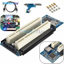 PCI-E Express X1 to Dual PCI Riser Extend Adapter Card With 2.6 FT USB 3.0 Cable