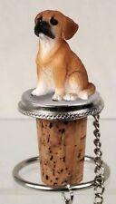 Puggle Dog Hand Painted Figurine Wine Bottle Stopper