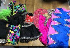 Vintage Girls Dance Costume Leotards Gymnastics Costumes lot of 4 Dress Up Play