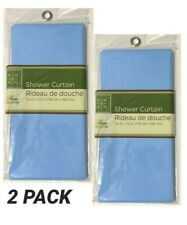 2 Pack Home Collection Blue  PEVA Vinyl Shower Curtains, 70x72 in.