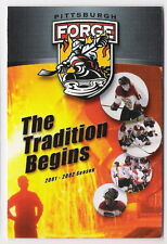2001-02 PITTSBURGH FORGE MINOR LEAGUE HOCKEY POCKET SCHEDULE: EXTREMELY RARE!!!
