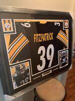 Minkah Fitzpatrick Authentic Autograph Framed Jersey COA Steelers