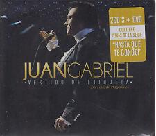 2 CD's + 1 DVD Juan Gabriel CD Vestido De Etiqueta SU ULTIMO DISCO NUEVO NEW !!