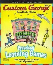 CURIOUS GEORGE: PRESCHOOL LEARNING GAMES (2000) PC DVD-ROM NEW & SEALED