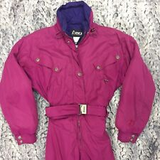 Nordica Women's Size 10 Belted Snowsuit - Magenta