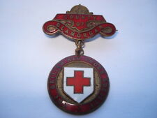C1930S VINTAGE THE BRITISH RED CROSS SOCIETY COUNTY OF GLAMORGAN  NURSES BADGE