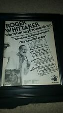 Roger Whittaker Too Beautiful To Cry Rare Original Promo Poster Ad Framed!