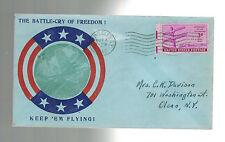 1945 USA Patriotic Cover Watkins Glen NY Battlecry of Freedom Keep em Flying