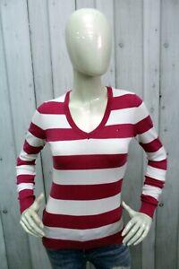 Maglione Tommy Hilfiger Donna Taglia XS Sweater Cotone Maglietta Manica Lunga