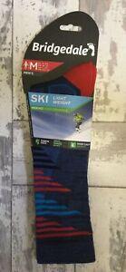 New -Bridgedale ,Mens, Size M- 6/8.5 -Lightweight Merino Fusion Ski - Walk Socks