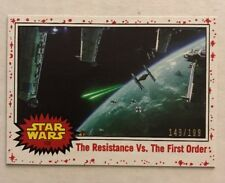 2017 Topps Journey To Star Wars: The Last Jedi Resistance Vs First Order 149/199
