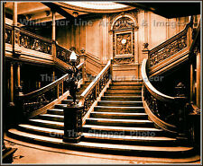 Photo: Sepia View: Titanic's 1st Class Forward Main Grand Staircase