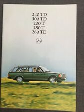 Mercedes-Benz Sales Brochure W123: 240TD, 300TD, 230T, 250T, 280TE 1980 in VGC