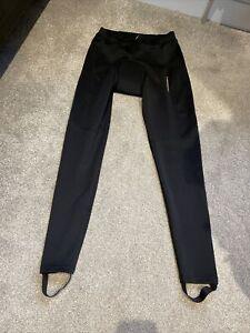 Ladies Size 12 Black Muddyfox Padded Cycling Stirrup Leggings