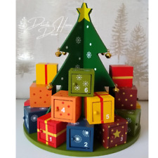 Magical Presents Under The Christmas Tree Advent Calendar Wooden Surprise Boxes