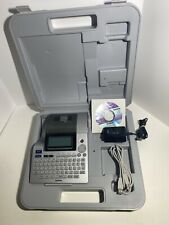 Brother P-Touch PT-2710 Thermal Label Printer w/ Case, Power Supply And CD Works