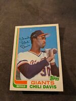 1982 Topps Traded #23T - CHILI DAVIS - Rookie RC - NM-MT Condition.