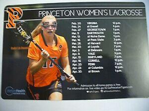 Princeton University 2016 Women's Lacrosse Magnetic Schedule - NEW