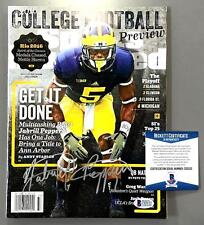JABRILL PEPPERS SIGNED SPORTS ILLUSTRATED MAGAZINE MICHIGAN BAS BECKETT COA