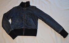 KILLAH  women's blue denim LINED coat jacket , SZ S ( 13,43)