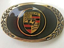Porsche belt buckle sports car Stuttgart.Vintage buckle rare.