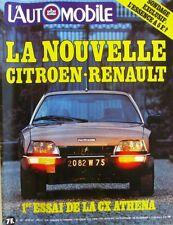 L'Automobile n°397 - 1979 -CITROEN CX-MAZDA-ALFA-MEHARI -HONDA CB 650-24 H MANS