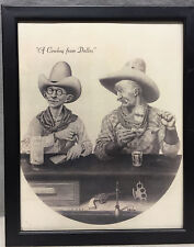 """Framed """"A Cowboy from Dallas"""" Numbered Print by B. R. McCowan 381/500"""