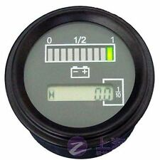 48 Volt Battery Indicator Hour Meter,Gauge -Tri-color