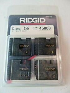 """RIDGID Pipe Dies 12-R 2"""" BSPT BLOX 45888 New"""