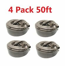 4x Cat5E Network Ethernet LAN Video/Thick Power Cable for CCTV IP Camera 50ft