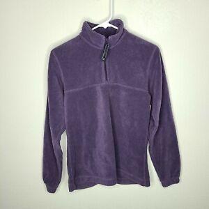 Columbia Purple Long Sleeve Pullover 1/4 Zip Fleece Jacket Size S