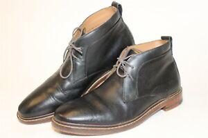 Cole Haan Mens 8 M Cambridge Black Leather Chukkas Lace Up Ankle Boots C24532