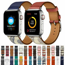 Real Leather Single Tour Strap Band Bracelet For Apple Watch Series 5/4/3/21 44m
