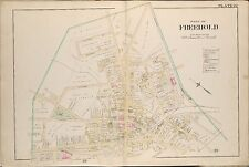 1889 FREEHOLD, MONMOUTH COUNTY NEW JERSEY ST. PETER'S CHURCH WOLVERTON ATLAS MAP