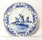 Plaque De Collection Assiette Murale Delfts Bleu Hollande Moulins À Vent