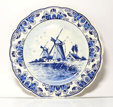 Collection Plate Wall Plate Delft Blue Holland Wind Mills