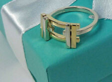 NEW Tiffany & Co. Frank Gehry Axis Ring Size 5.5 Gold 18k Sterling Silver 925