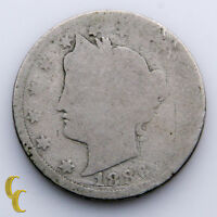 1886 Liberty Head Five Cent 5C Nickel (About Good, AG Condition) Natural Color!