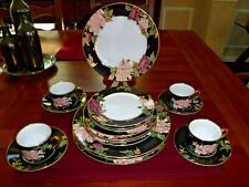 Fitz & Floyd Cloisonne Peony 20pc Service for 4 Fine China Japan Guc Ships Free