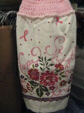 Breast Cancer Awareness Crochet Kitchen Towel ~ **Gift Idea