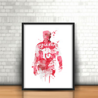 Dennis Bergkamp - Arsenal Inspired Football Art Print Design Gunners Number 10